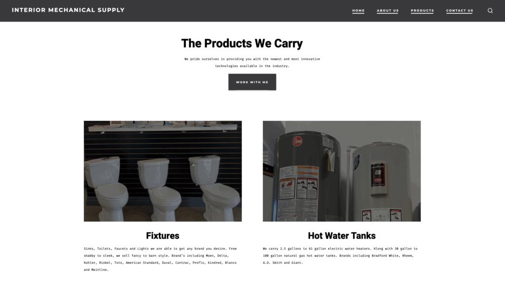 Interior Mechanical Supply Website