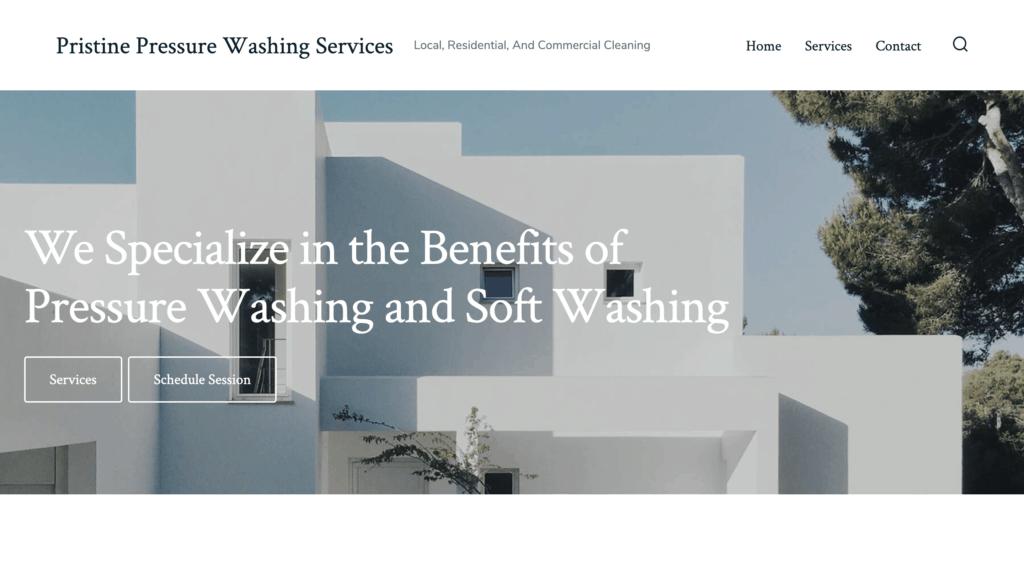 Pristine Pressure Washing Services Website