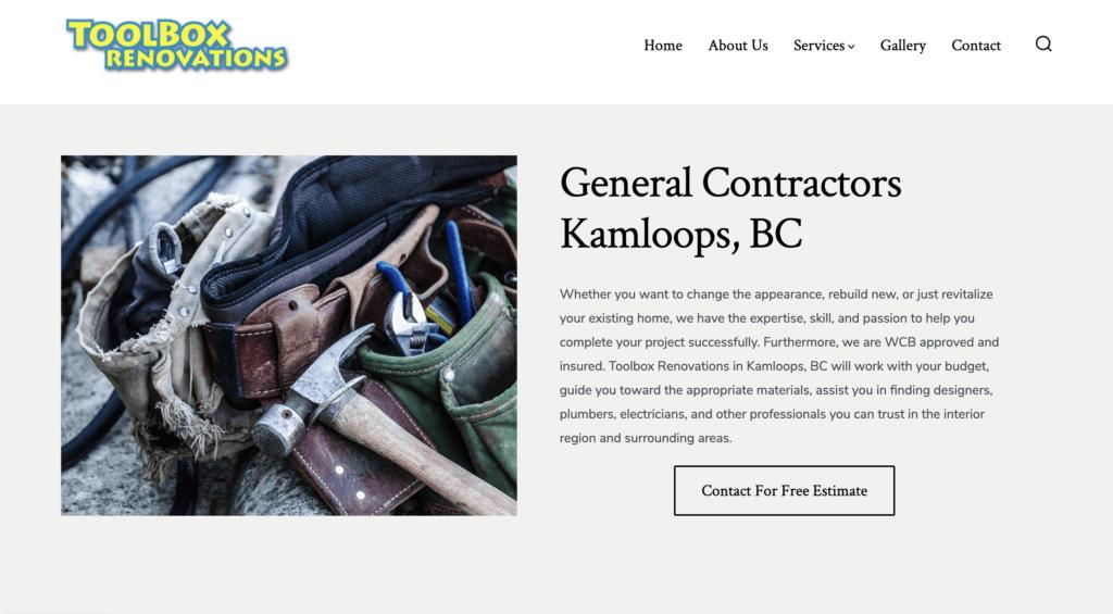 Toolbox Renovations Website
